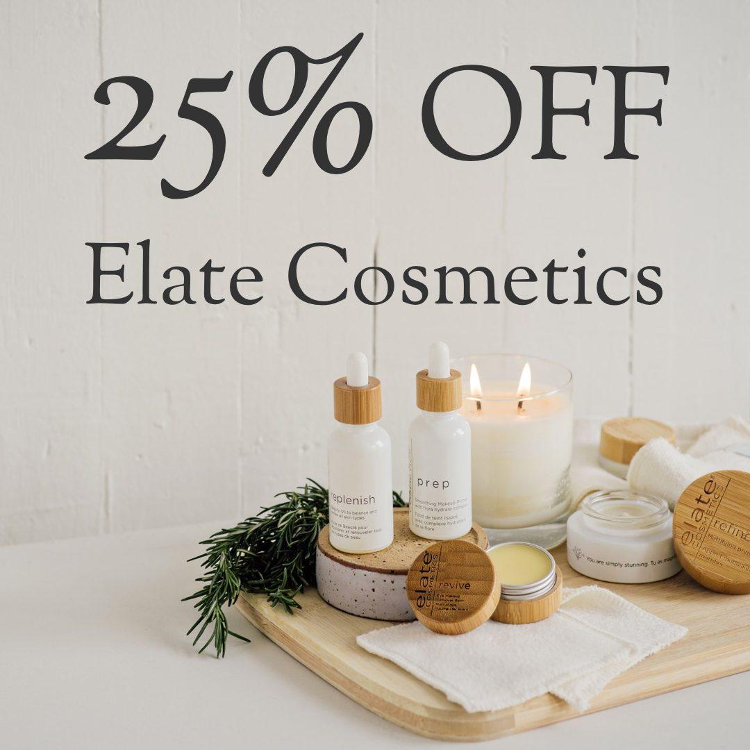 25% off Elate Cosmetics   Organic Skin Shop online